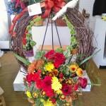 Fall wreath from Wilma's Flowers in Jasper, AL