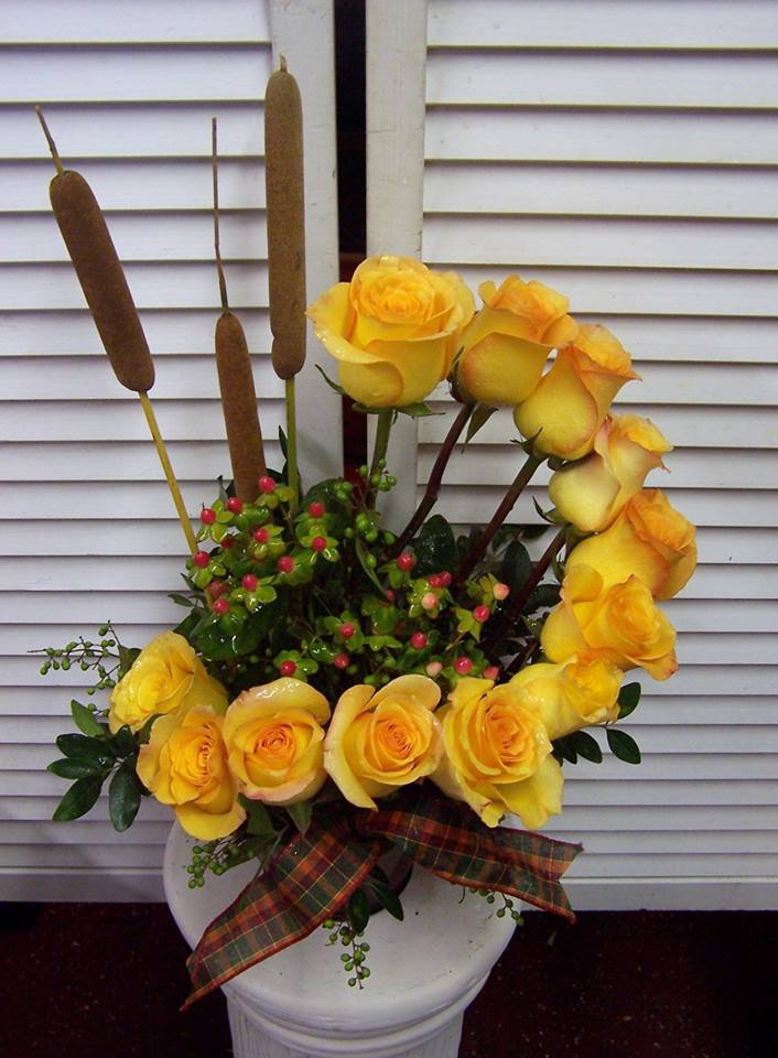 Gorgeous arrangement from The Yellow Rose Florist in Olive Branch, MS