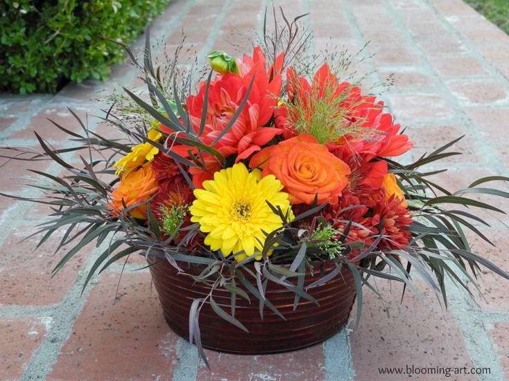 Gorgeous centerpiece from Blooming Art Floral Design in San Diego, CA