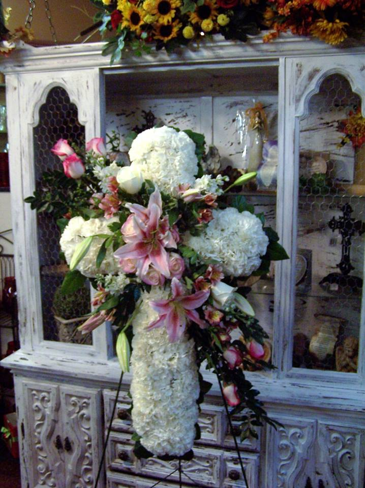 Gorgeous standing spray from The Yellow Rose Florist in Olive Branch, MS
