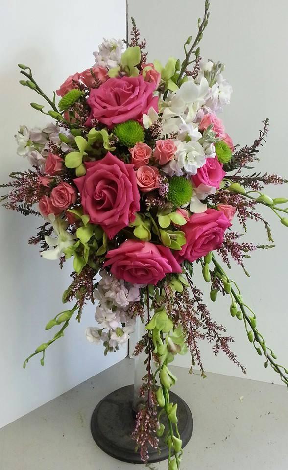 Wedding bouquet by Devine Designs in Fulton, NY