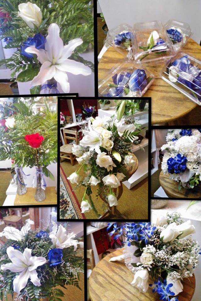 Wedding collage by Wilma's Flowers in Jasper, AL