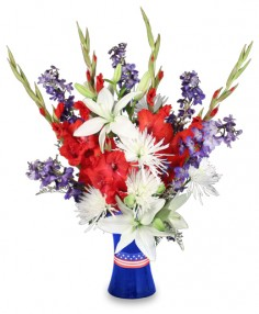 Red White Blue Flowers