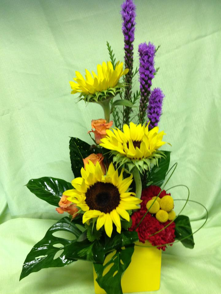 A colorful arrangement from Shirley's Florist in Birmingham, AL
