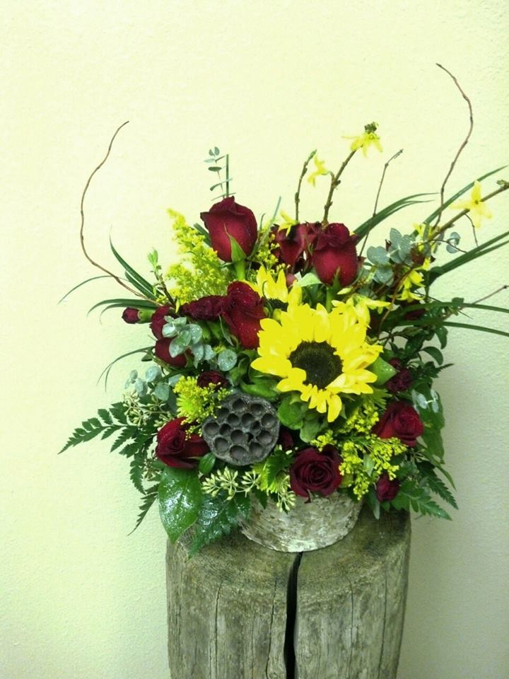 An excellent fall arrangement from Floral Design in Post Falls, ID