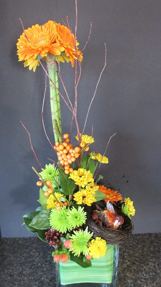 Creative arrangement from Kathryn's Florist and Gifts in Winchester, NH