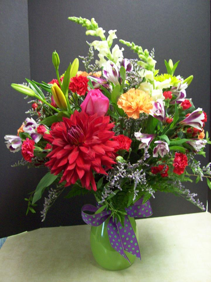 Excellent arrangement from Com-Patt-ibles Floral Elegance in Wooster, OH