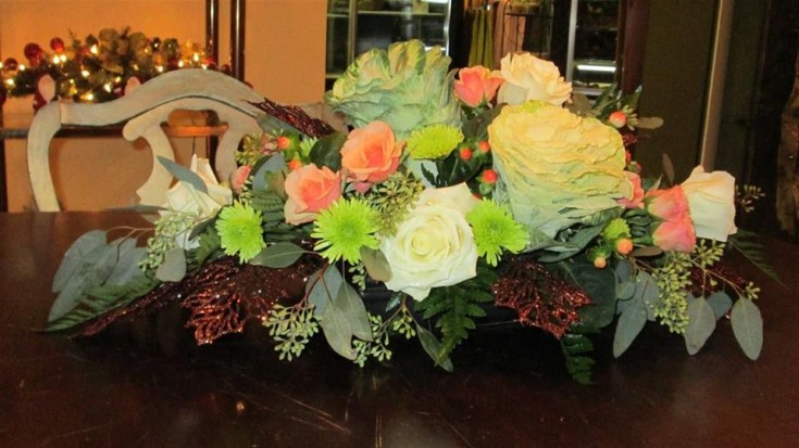 Excellent centerpiece by Inspirations Floral Studio in Lock Haven, PA