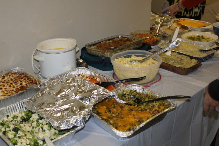 Potluck food