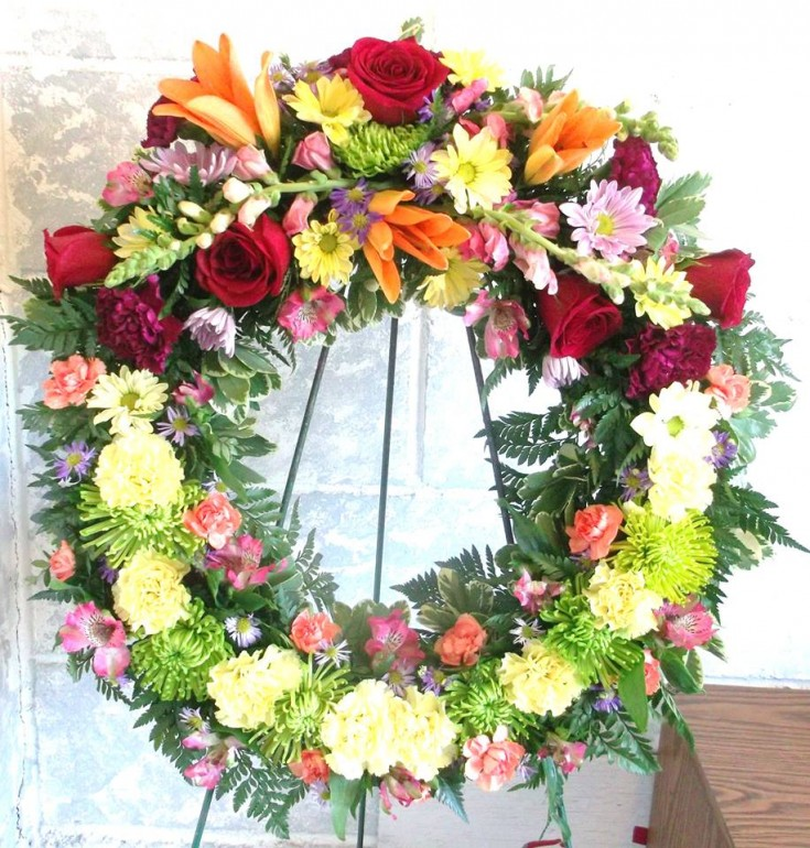 Wreath from A-1 Flowers & More in Cottonwood, ID
