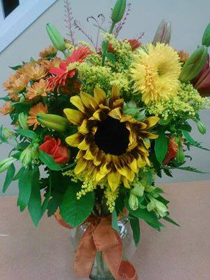 Fall design by Oak Bay Flowers, Victoria BC