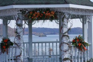 Wedding Gazebo by Oran's Flower Shop