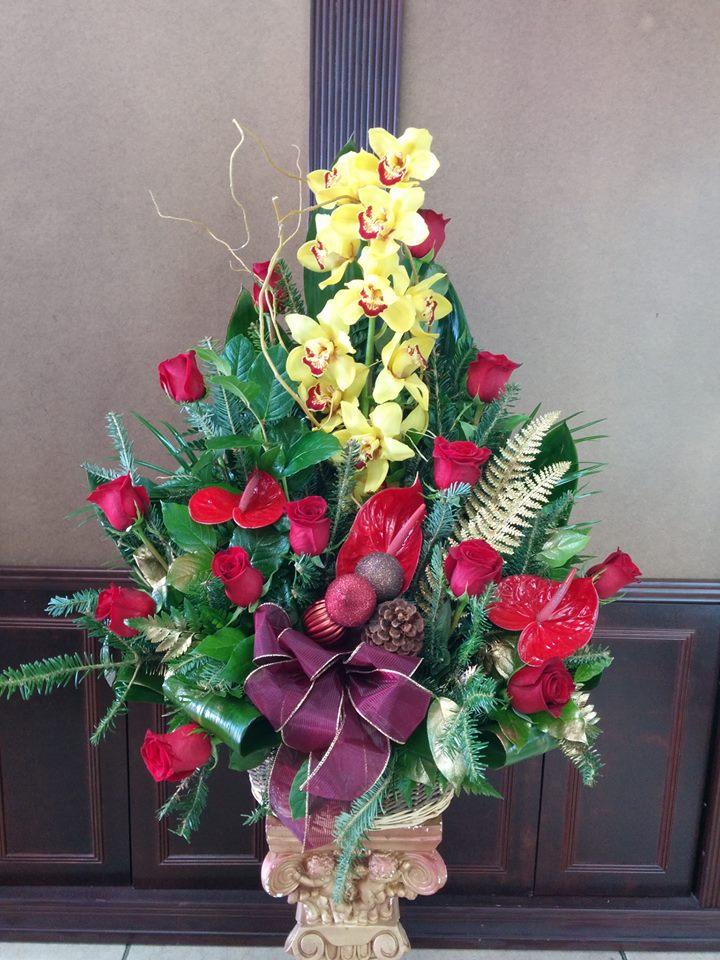 Christmas arrangement from Fancy Flowers in Hialeah, FL