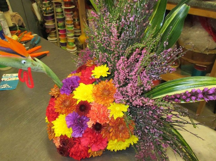 Creative and colorful arrangement from Mabel Flowers in Mabel, MN