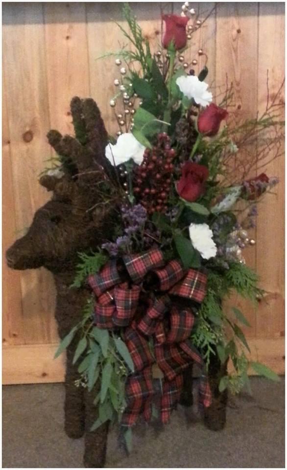 Creative reindeer arrangement by Clark County Floral in Vancouver, WA