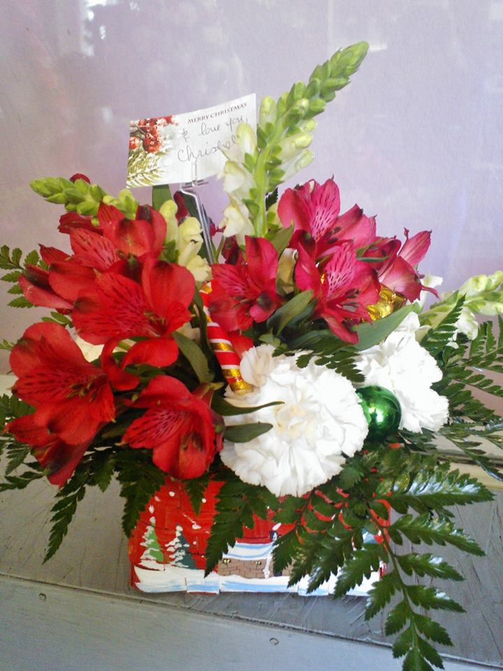 Festive arrangement from Wilma's Flowers in Jasper, AL