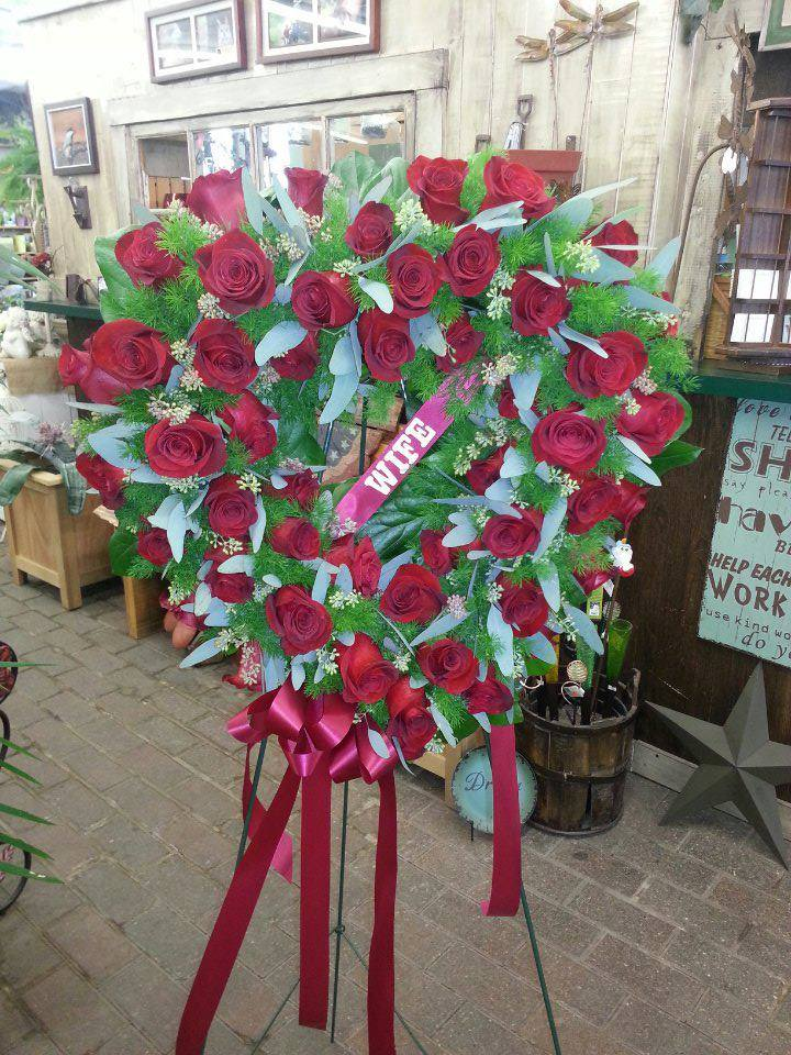 Funeral heart from Holtz Garden Center and Floral in Ham Lake, MN
