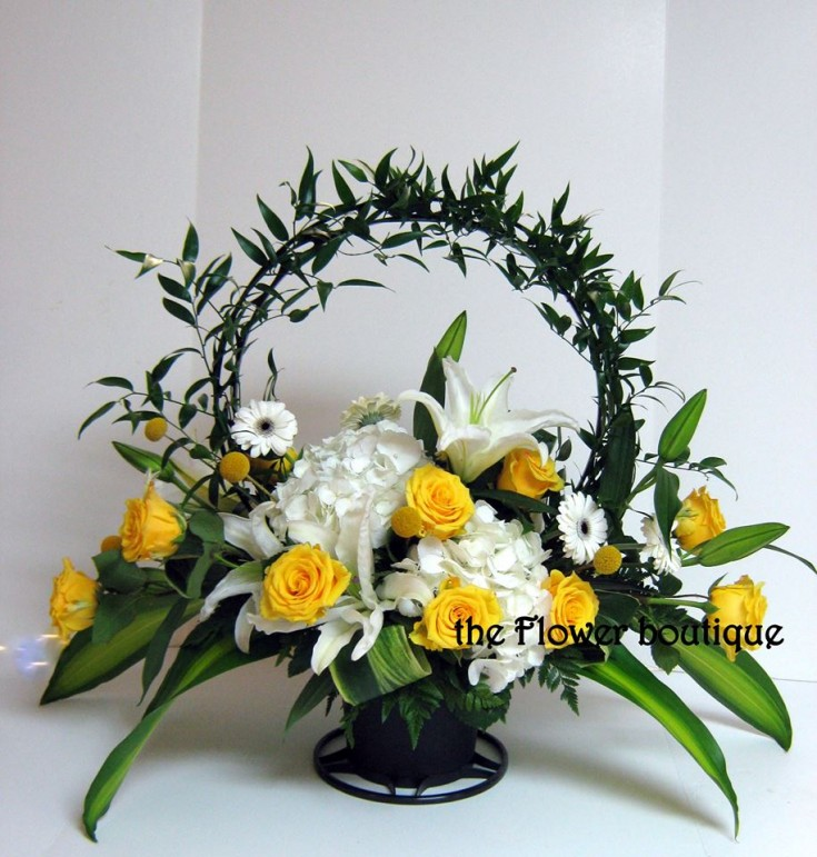 Gorgeous sympathy arrangement from The Flower Boutique in Matthews, NC