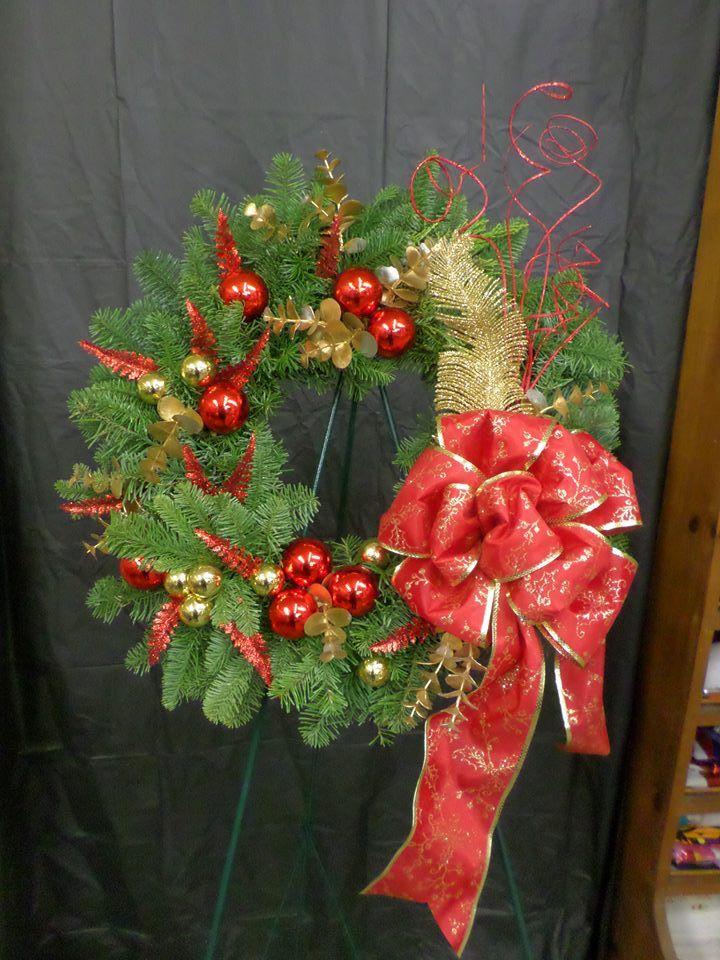 Gorgeous wreath by Klamath Flower Shop in Klamath Falls, OR