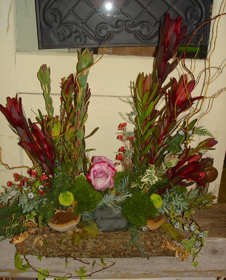 Memorial arrangement from The Petal Patch, Ltd. of McFarland, WI