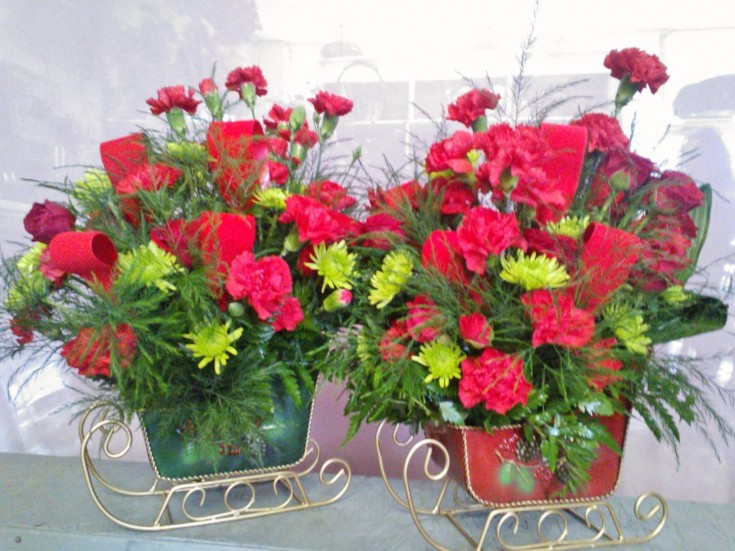 Sleighing through the holidays with Wilma's Flowers in Jasper, AL