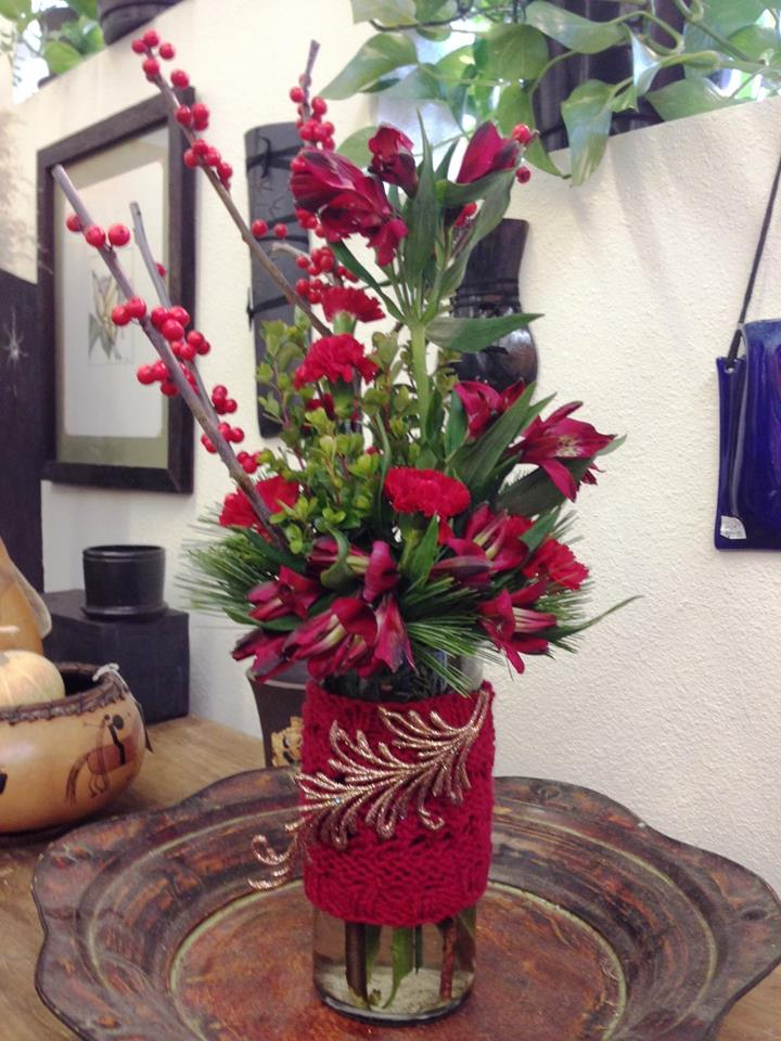Spirit of the Season arrangment from Gaia Flowers, Gifts and Art in Las Vegas, NV