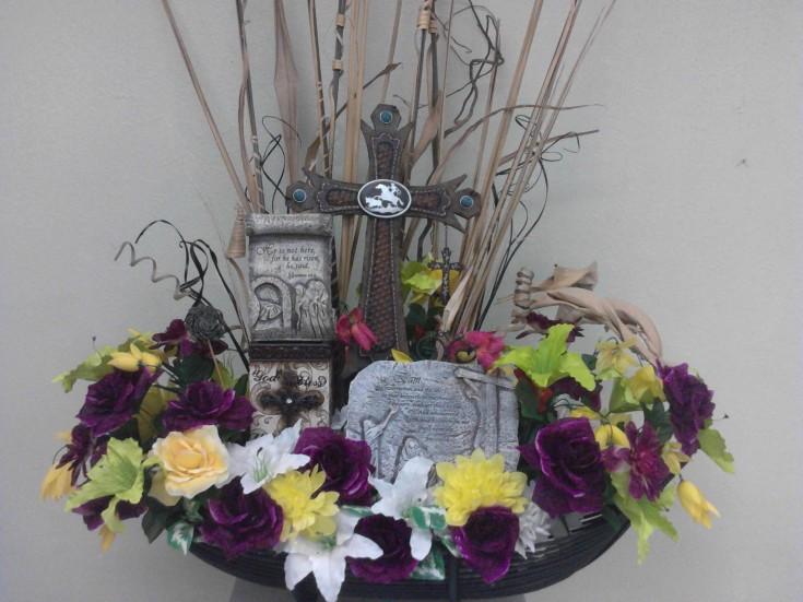 Themed arrangement from Divine Ideas and Flowers for You in Edinburg, TX