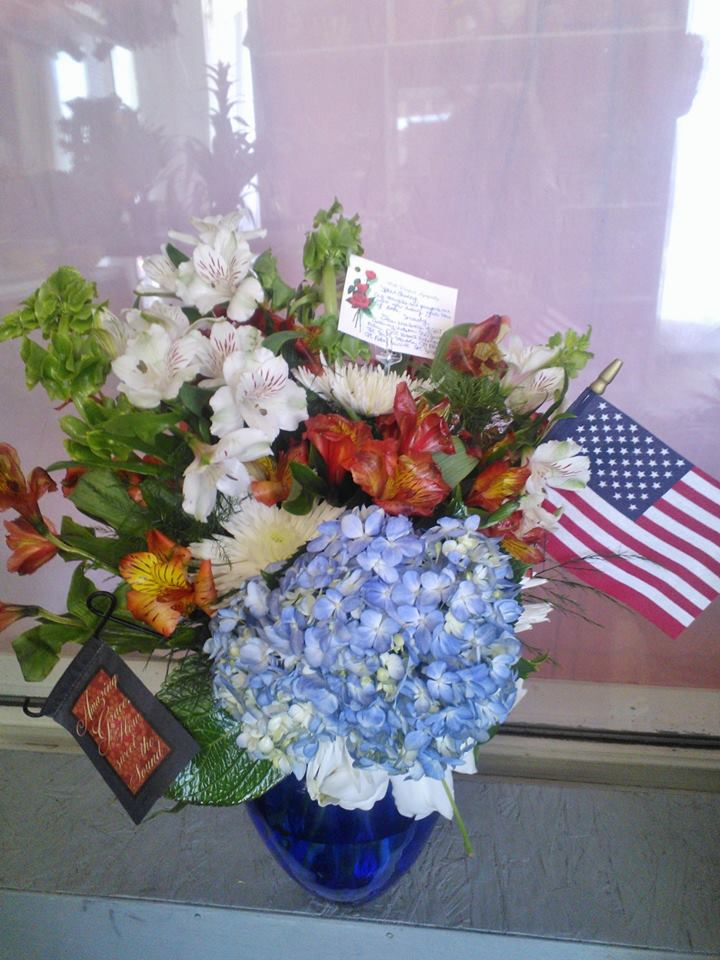 A taste of patriotism from Wilma's Flowers in Jasper, AL