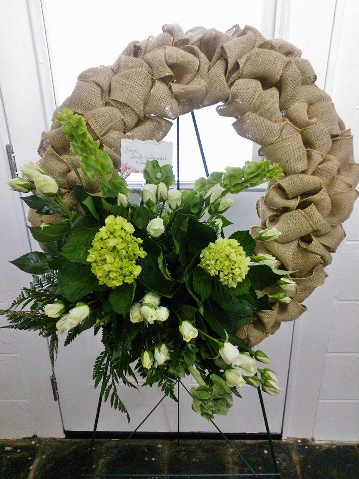Amazing wreath from Wilma's Flowers in Jasper, AL