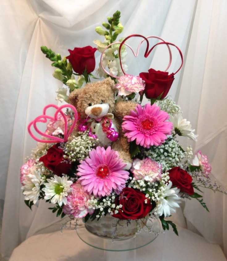 Beary nice arrangement from Michele's Floral and Gifts in Copperas Cove, TX