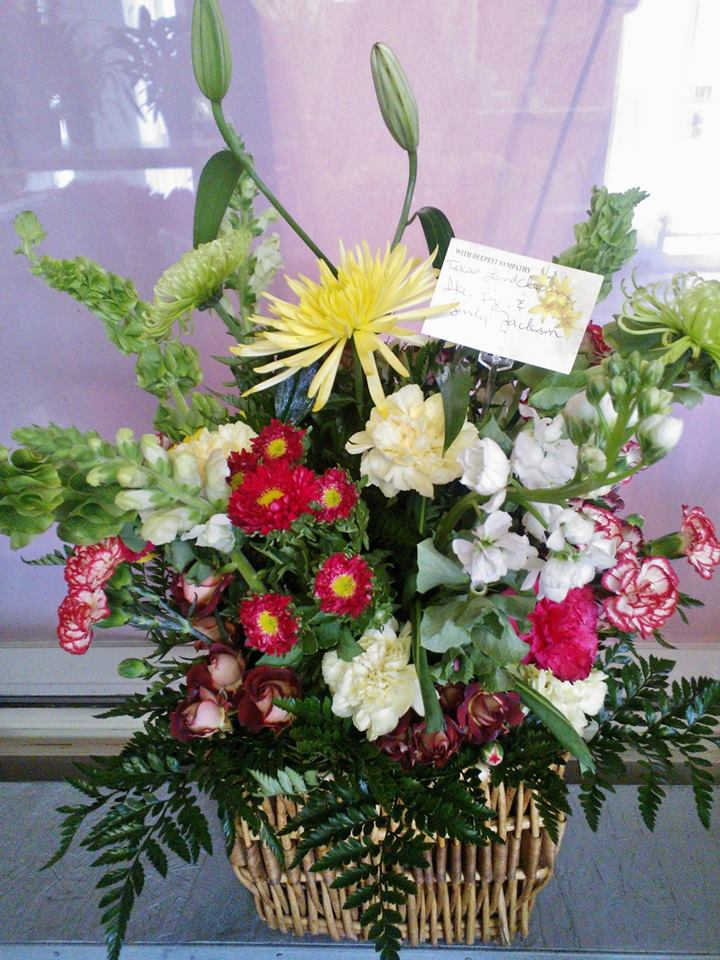 Beautiful arrangement by Wilma's Flowers in Jasper, AL