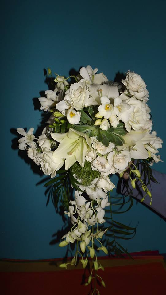 Elegant wedding bouquet from Your Personal Florist in Troy, OH