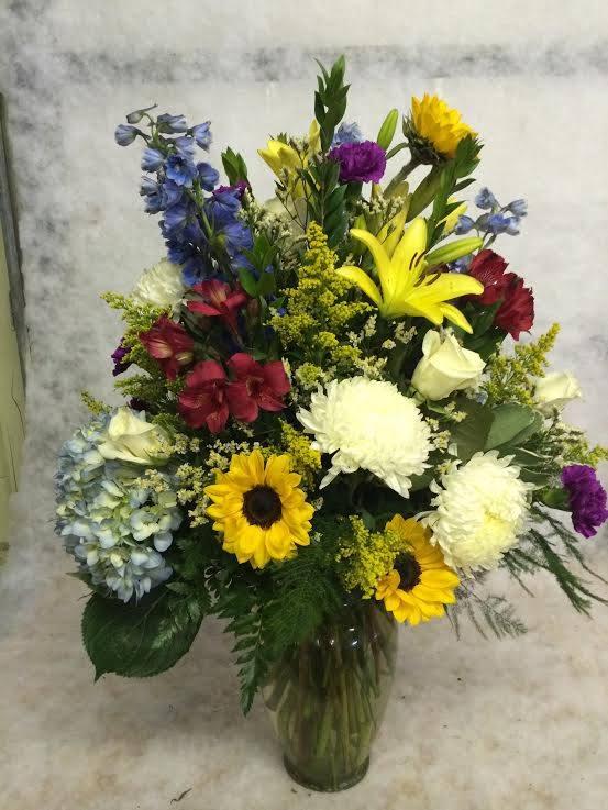 Excellent arrangement by Hobby Hill Florist in Sebring, FL