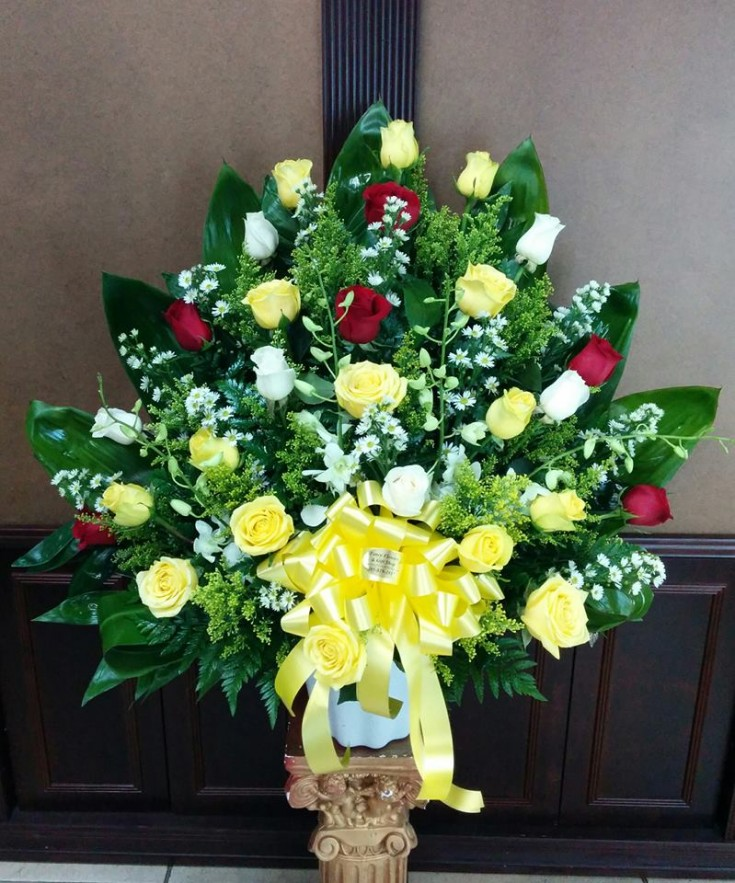 Exquisite funeral basket from Fancy Flowers in Hialeah, FL