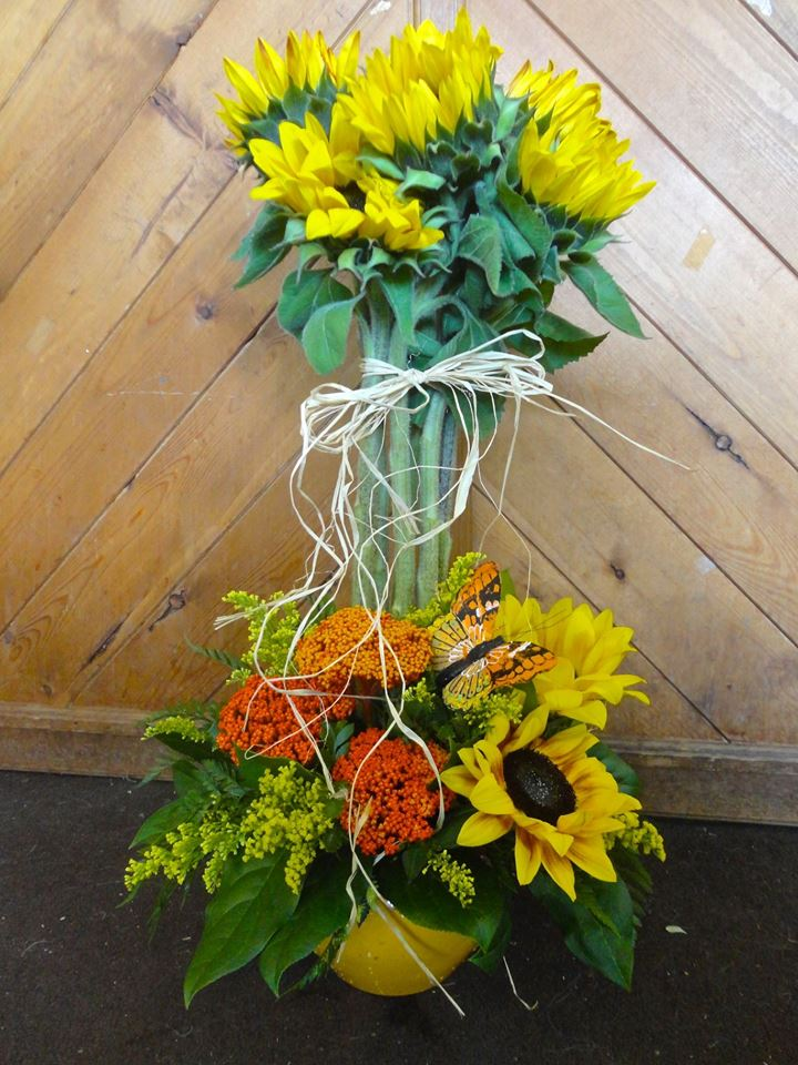Injecting some sun in our winter day with Montgomery Florist in Montgomery, NY