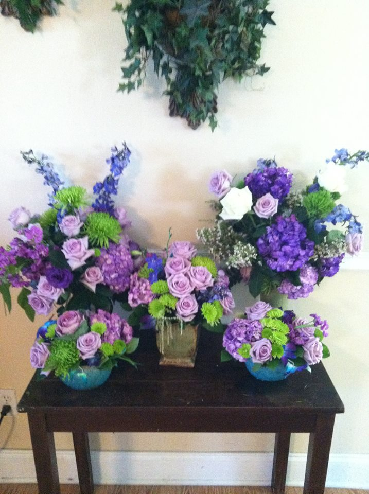 Purple explosion from The Cottage Florist in Riverview, FL
