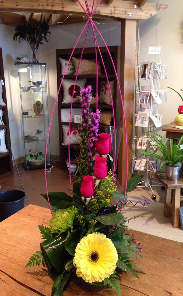 Showing off their creativity at Petals in Thyme of Wasaga Beach, ON
