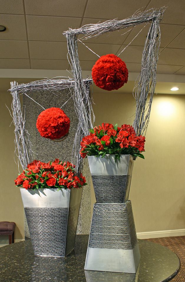 Spacially gorgeous design from Tom Kenison AIFD of Crossroads Florist in Mahwah, NJ