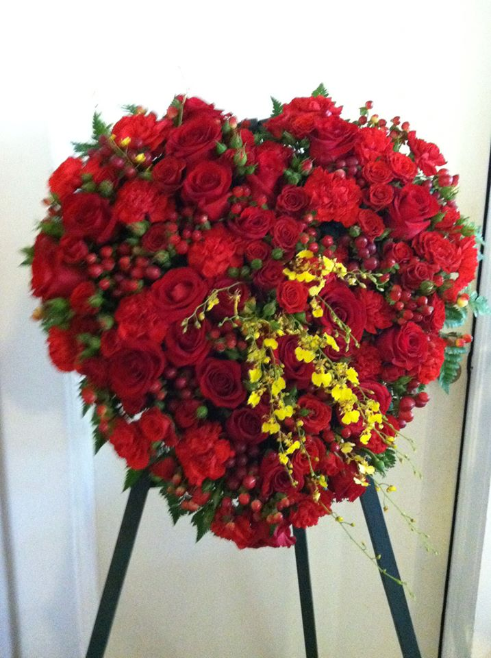 Sympathy heart from The Cottage Florist in Riverview, FL