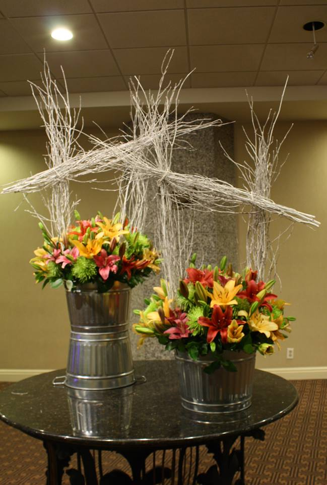 Winter Garden arrangement from Tom Kenison AIFD of Crossroads Florist in Mahwah, NJ