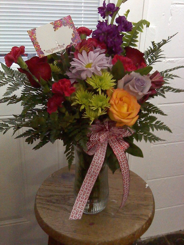A Valentine's Day mix from Wilma's Flowers in Jasper, AL