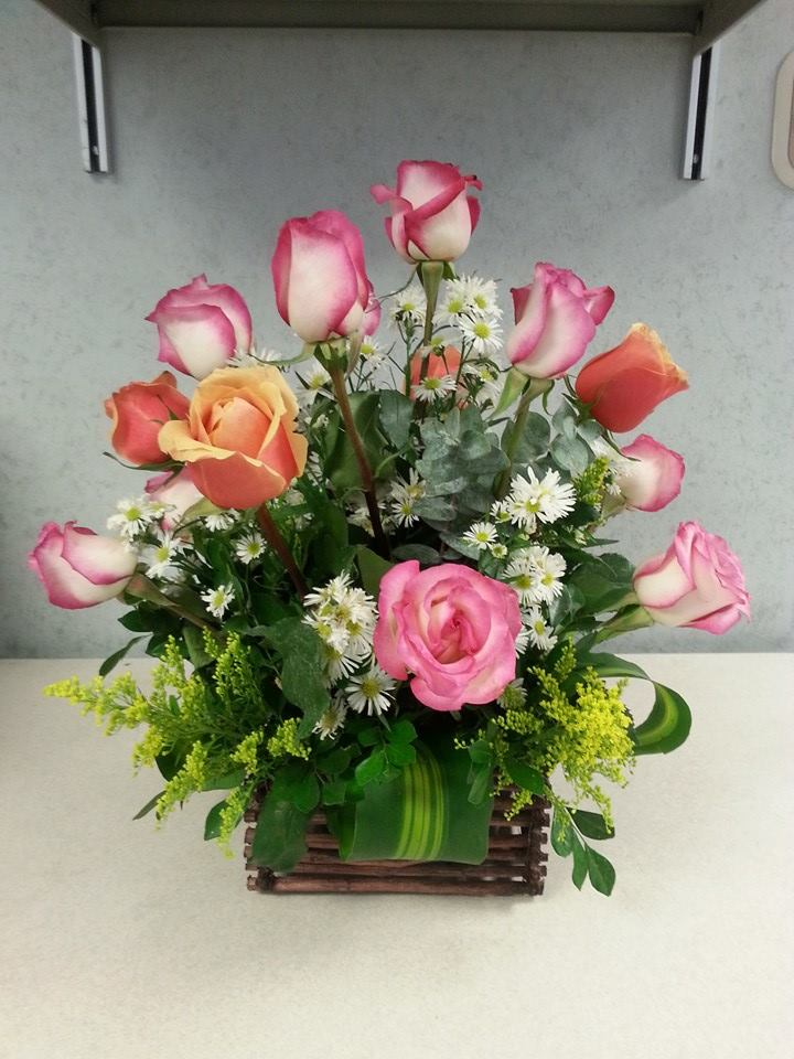 A lovely arrangement by The Pink Flowershop in Los Fresnos, TX