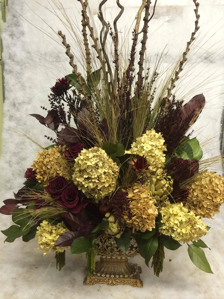 Amazing dried arrangement from Hobby Hill Florist in Sebring, FL