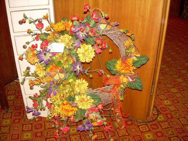 Beautiful wreath from North End Florist in Pottsville, PA