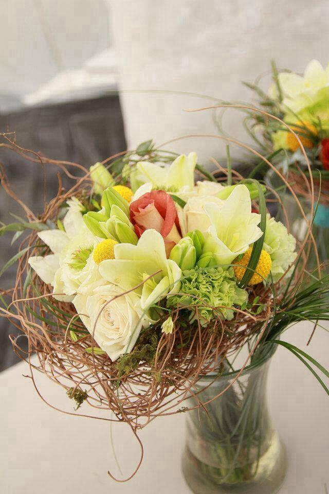 Bird's nest bouquet with Helen's Flowers in Greenville, OH