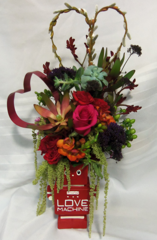 Showing some Valentine's Day love with The Enchanted Florist in Taos, NM