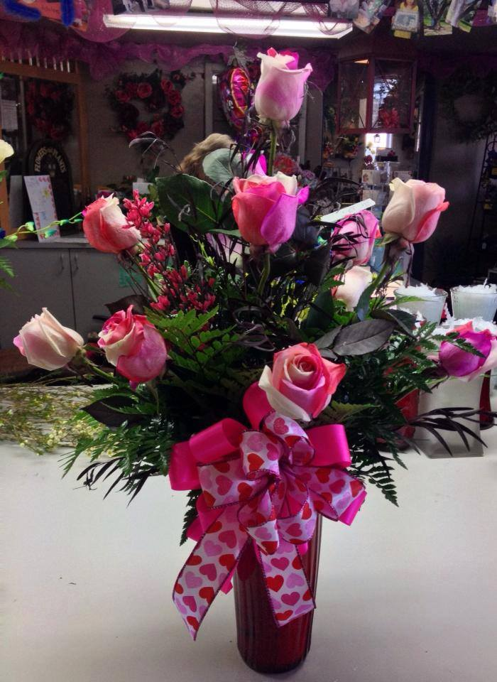 Some Valentine flowers from Helen's Flowers & Gifts in Greeville, OH