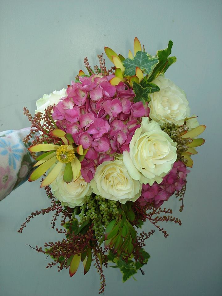 Wedding bouquet from The Petal Patch, Ltd. in McFarland, WI