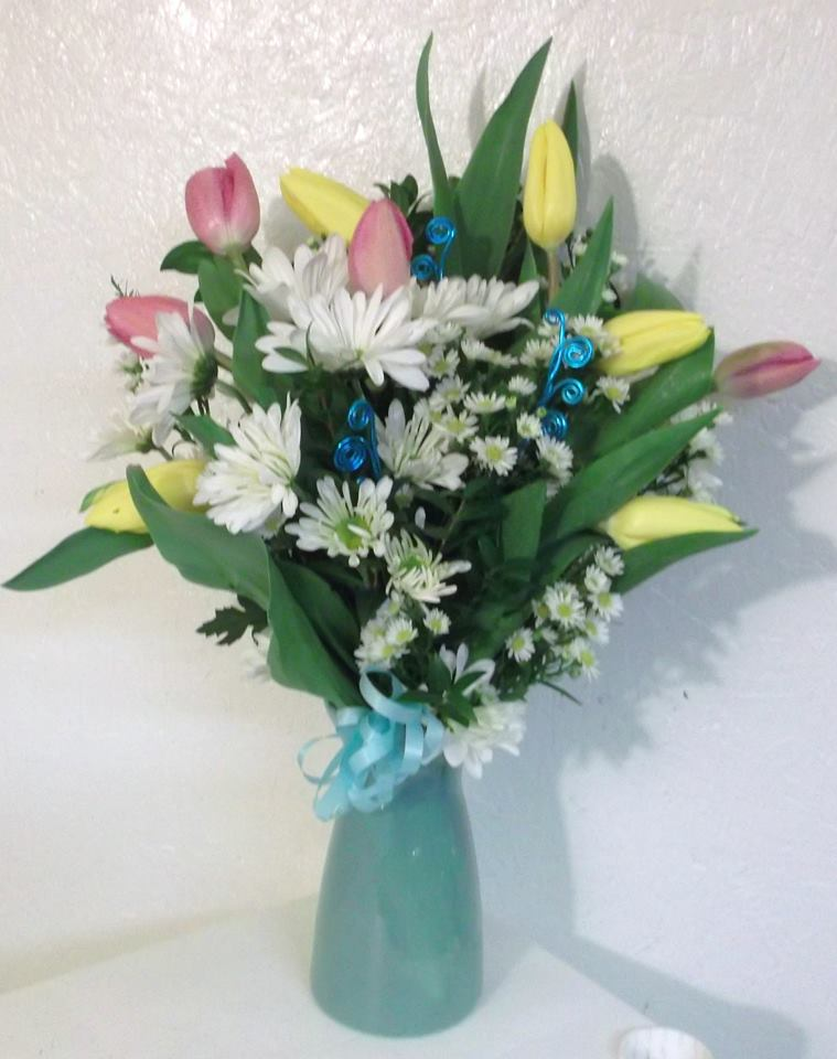 A Spring arrangement from A-1 Flower & More in Cottonwood, ID