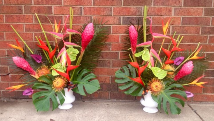A little tropical fun from A New Beginning Florist in Moore, OK